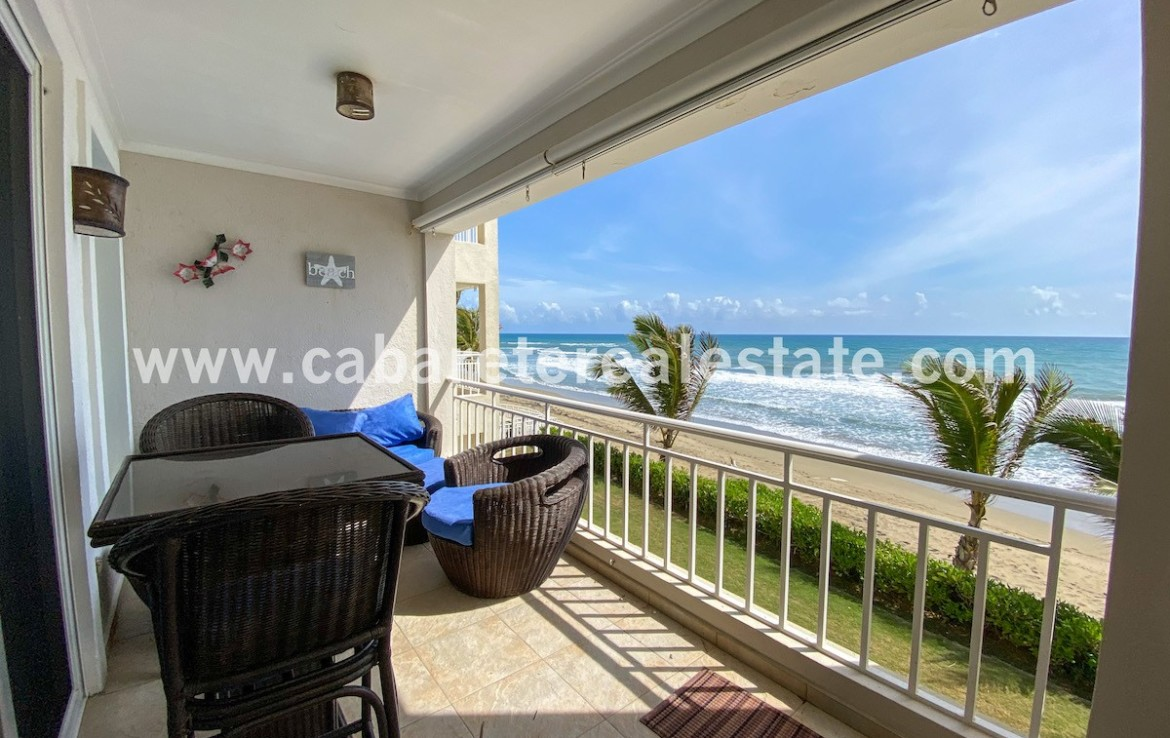 spacious terrace with amazing ocean view in this luxury apartment in cabarete east