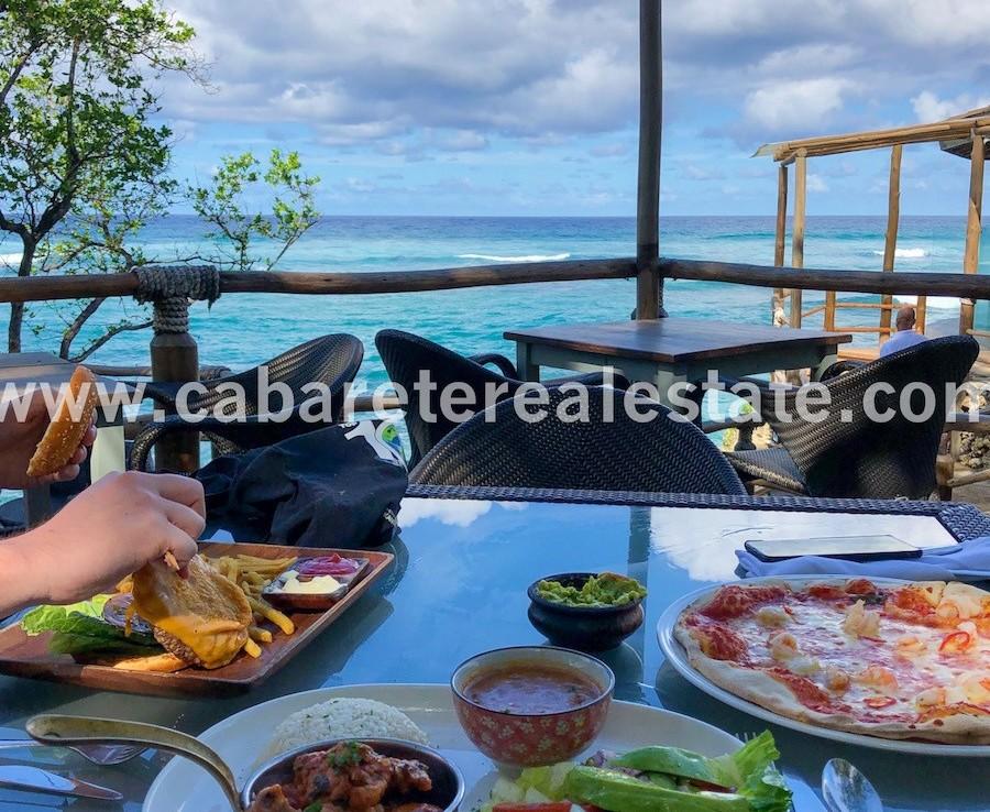 tasty beach club lunch
