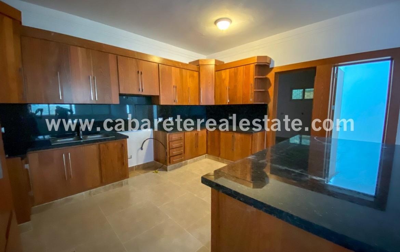 Fabulous kitchen with black granit counter tops in Beachfront apartment Cabarete Dominican Republic