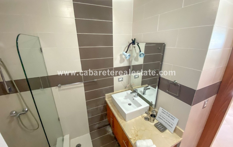 Gorgeous bathroom in studio Cabarete Dominican Republic