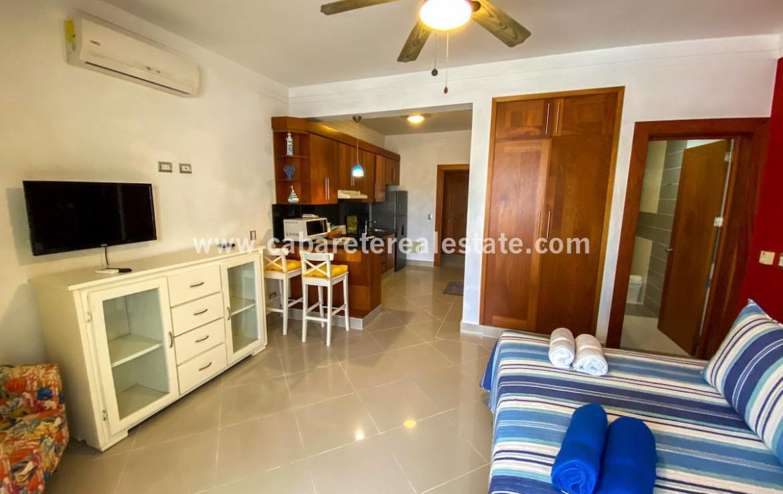 Living area studio in Beachfront residence Cabarete Dominican Republic