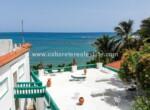 Roof top terrace Beach front hotel Cabarete Bay Dominican Republic