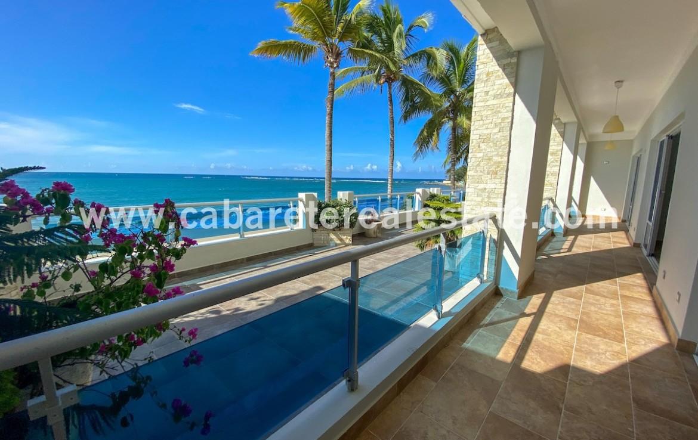 Spacious terrace in beachfront home Cabarete Real Estate Dominican Republic