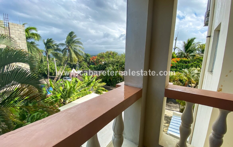 Balcony Encuentro Beach 2 bedroom condo Cabarete Dominican Republic