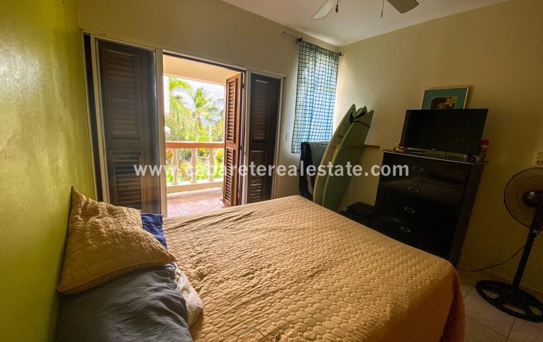 Guest bedroom in El Encuentro Beach condo Cabarete Dominican Republic