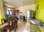 Kitchen and living area in apartment Cabarete El Encuentro Beach Dominican Republic