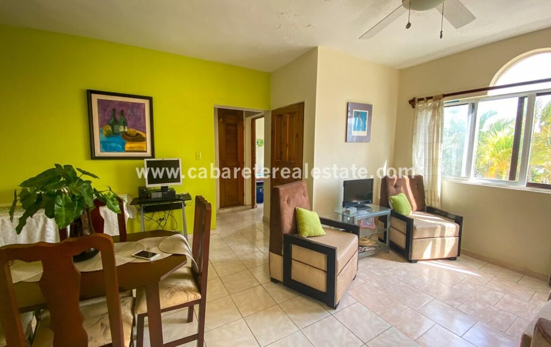 Living area Cabarete 2 bedroom apartment Dominican Republic Cabarete