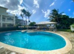 Pool area El Encuentro Beach 2 bedroom apartment Cabarete Dominican Republic
