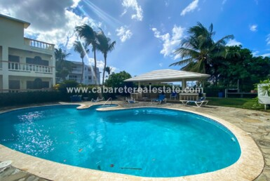 Pool area El Encuentro Beach 2 bedroom apartment Cabarete Dominican Republic