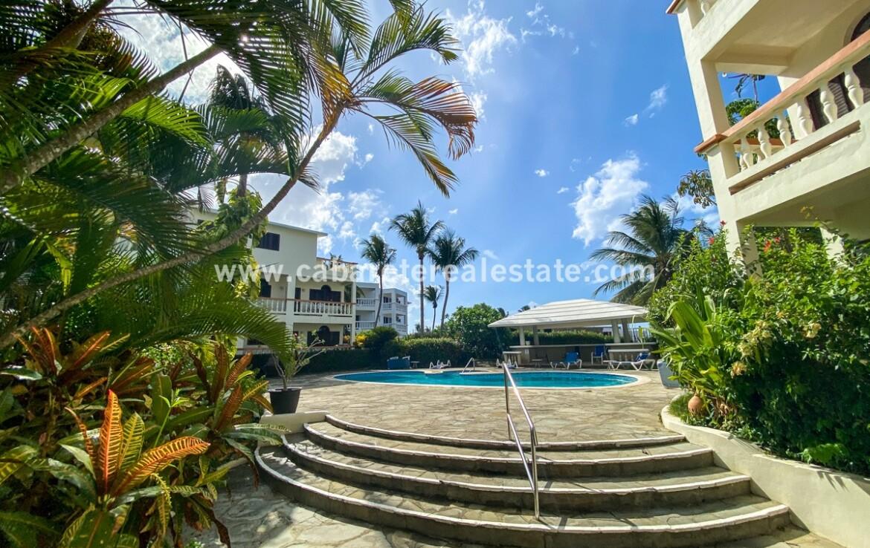 Pool area Encuentro Beach condo Cabarete Dominican Republic
