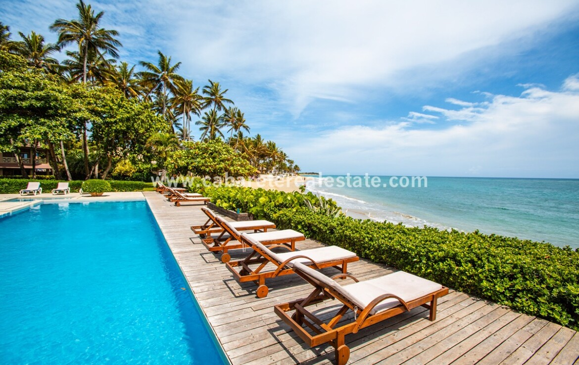 Beachfront deck and pool Two bedrooms beach front apartment Cabarete Dominican Republic