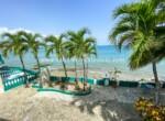 Beachfront terrace Hotel Cabarete Dominican Repbulic