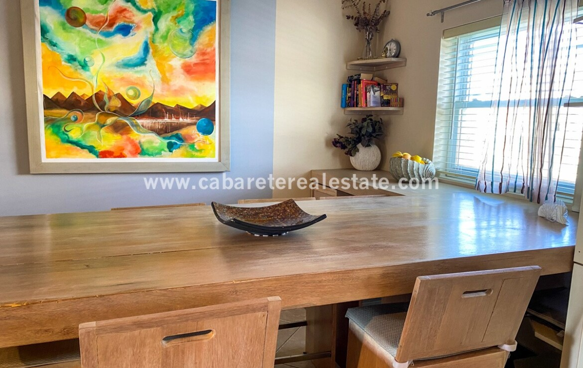 Dining area in Beachside dream home Cabarete Real Estate Dominican Republic