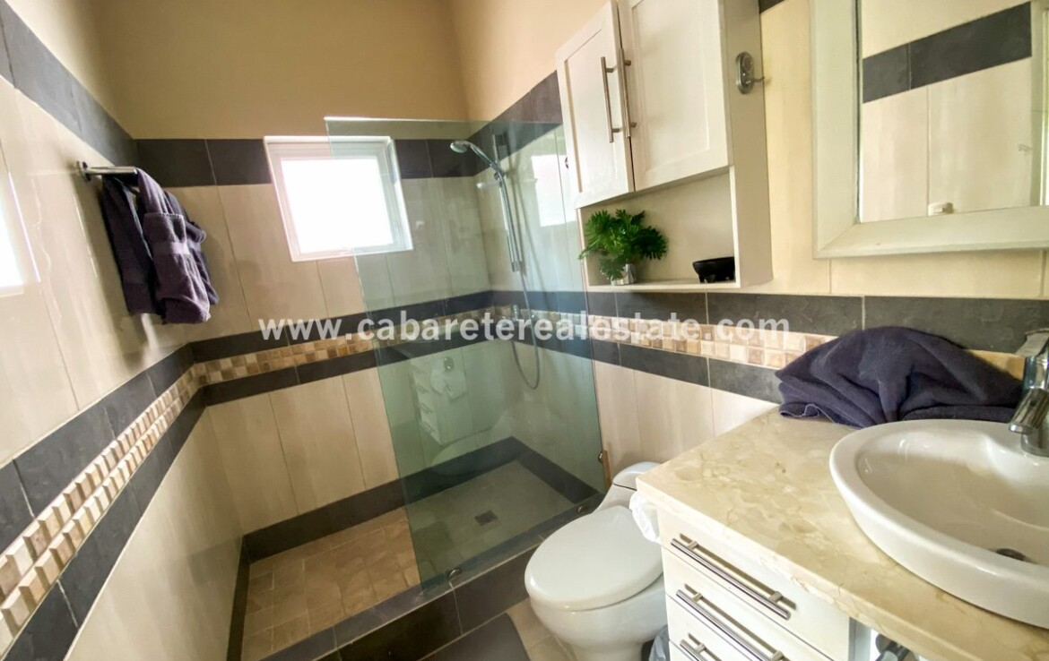 Ensuite Bathroom in two bedrooms beachside condo Cabarete Dominican Republic