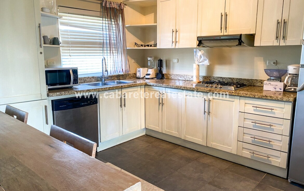 Fully equipped kitchen in two bedroom second floor condo Cabarete Dominican Republic