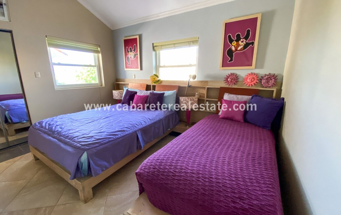 Guest bedroom with oceanview in beachside gated community Cabarete Real Estate