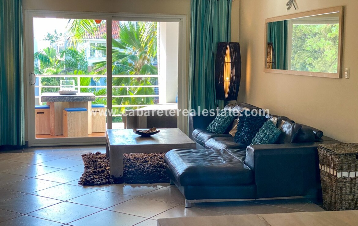 Living area Beachfront gated community Cabarete Real Estate Dominican Republic