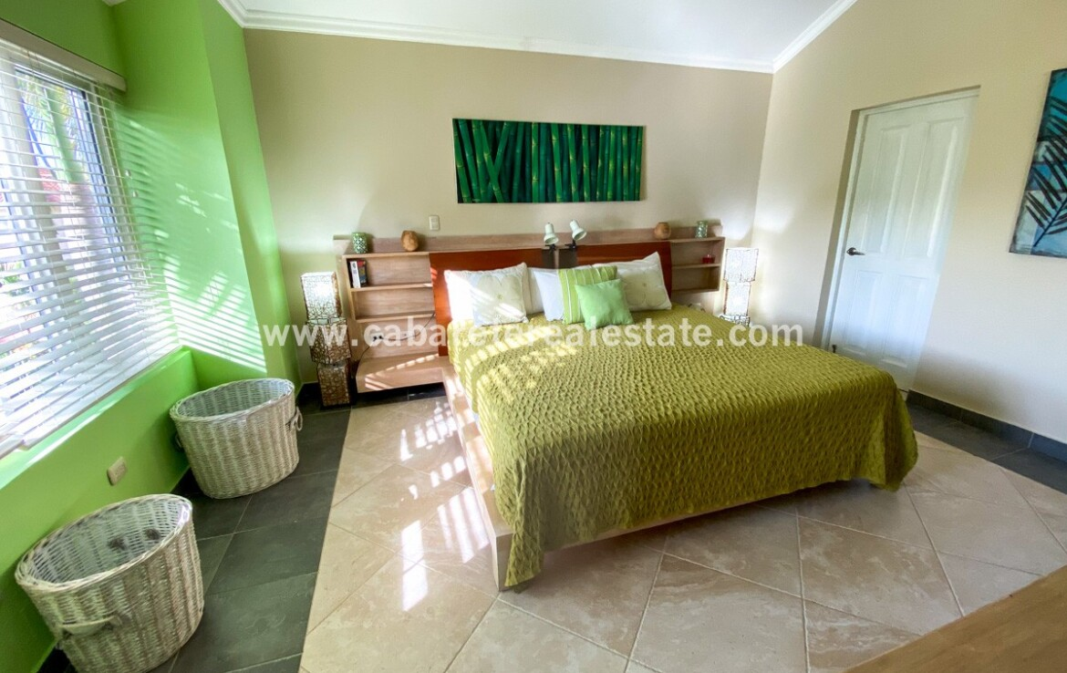 Master bedroom beachfront gated community Cabarete Dominican Republic