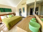 Master bedroom with ensuite bathroom beachside gated community luxurious Cabarete Dominican Republic
