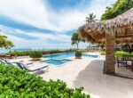 Pool and Gazebo Beachfront apartment Kitebeach Cabarete Dominican Republic