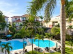 Pool area two bedrooms beachside condo second floor Cabarete Real Estate