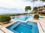 Poolside and jacuzzi Kite beach condo Cabarete Dominican Republic
