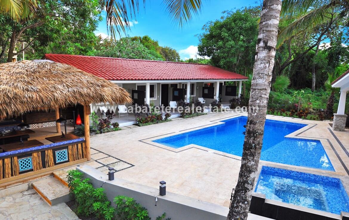Poolside in boutique hotel Sosua Dominican Republic Cabarete Real Estate