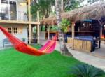 Relaxing in hammock hotel Sosua by the beach Dominican Republic