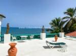 Roof top terrace beachfront hotel Cabarete Dominican Republic