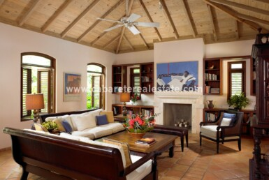 Stunning living area in Beachfront home Cabrera Dominican Republic
