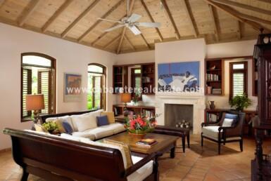 Stunning living area in Beachfront home Cabrera Dominican Republic