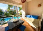 Sun kissed Balcony in two bedrooms dream apartment in Cabarete Bay Dominican Republic