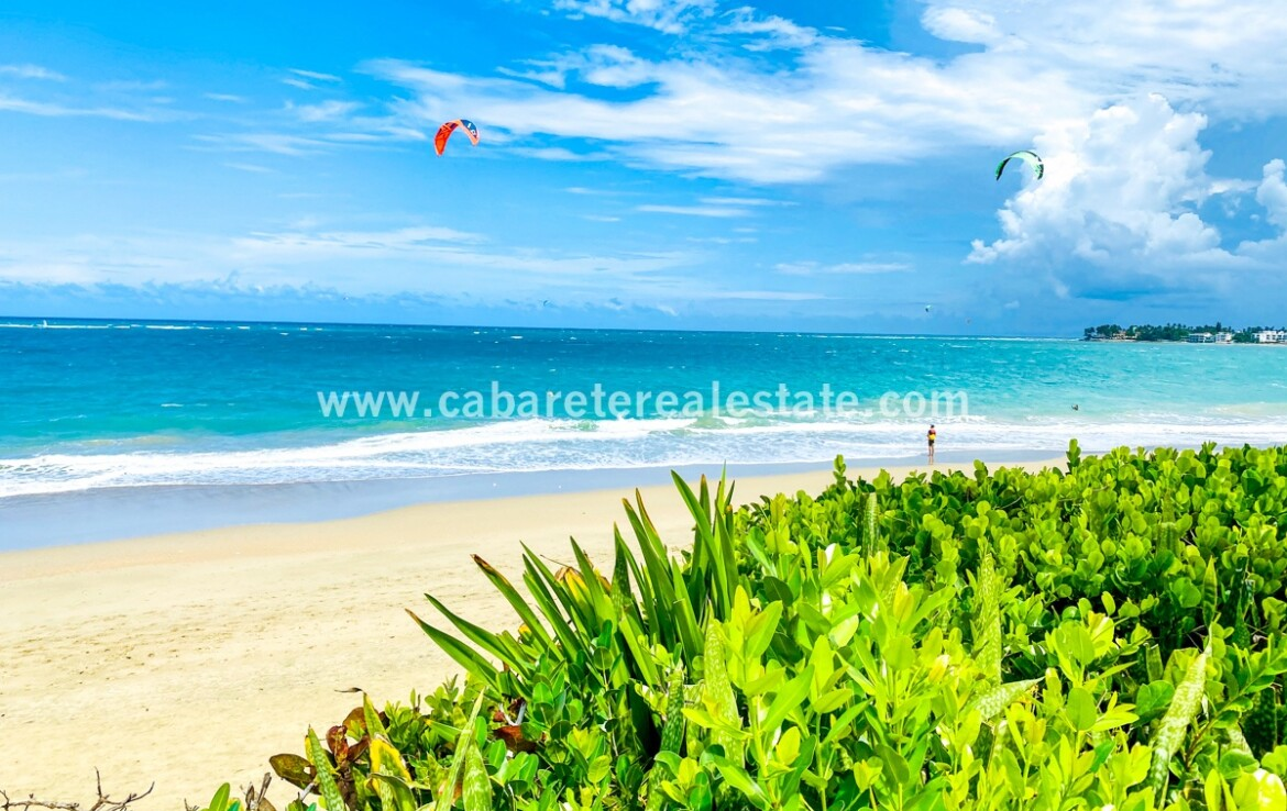 Beach and ocean views from your dream home in Cabarete Real Estate Dominican Republic