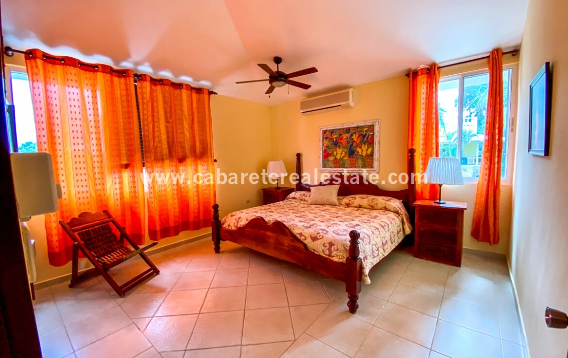 Bedroom in Beach front home close to kite beach Cabarete Real Estate
