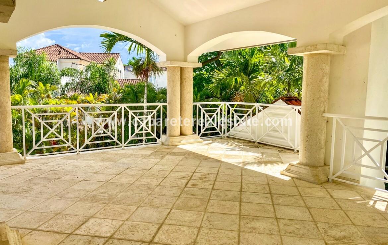 Covered balcony beachside luxurious Cabarete Dominican Republic
