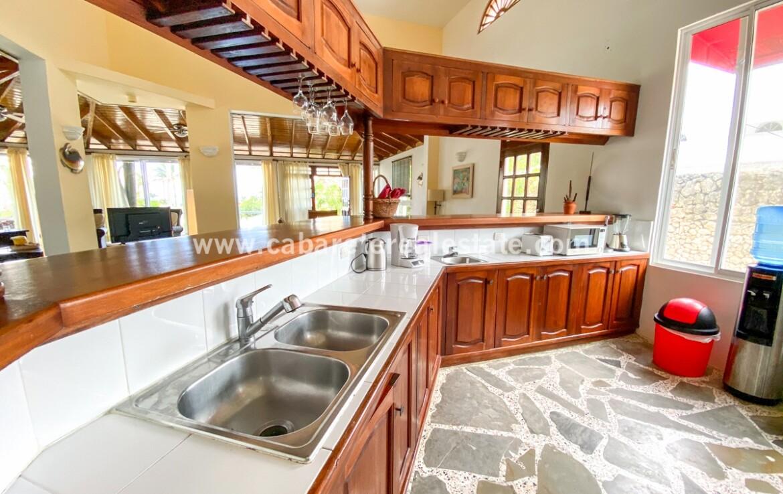 Kitchen at beachside home Cabarete Dominican Republic Real Estate