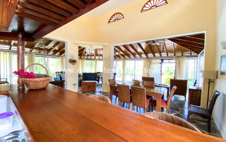 Kitchen views in Beachfront Home Cabarete Real Estate