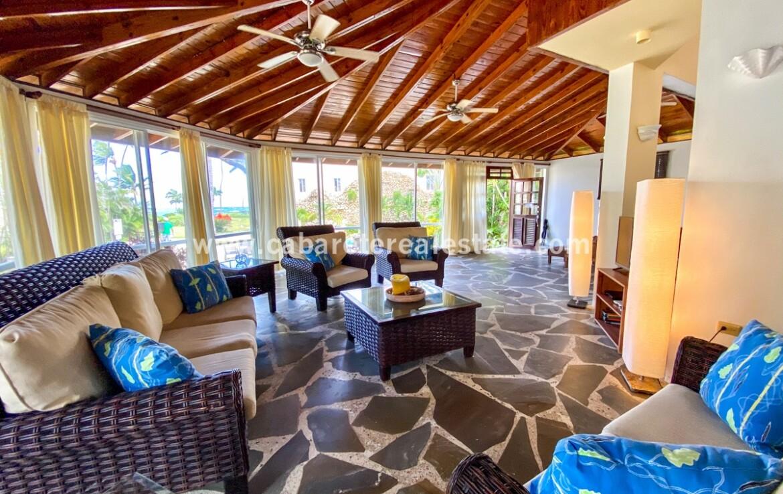Living area in Charming beachfront Home Cabarete Real Estate Dominican Republic