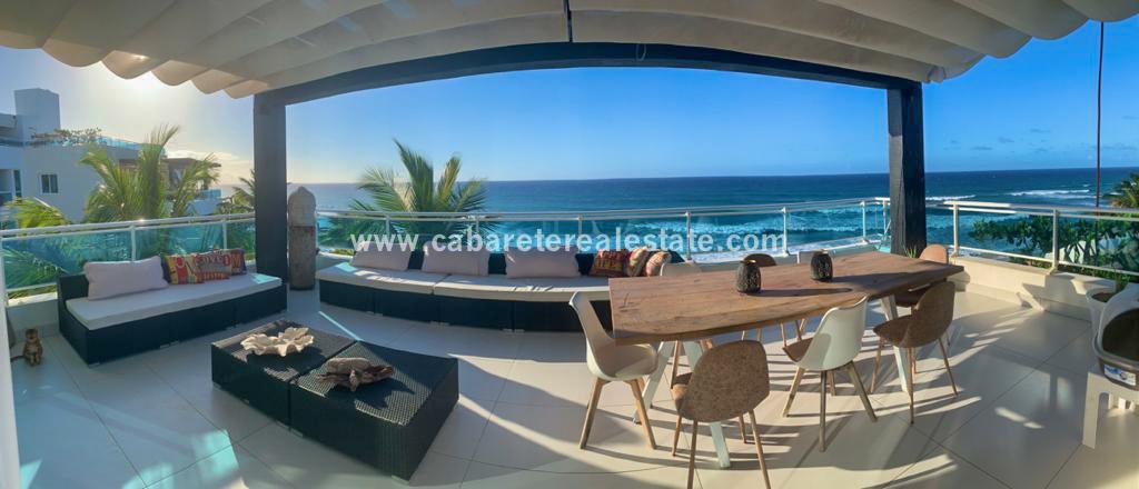Luxury beachfront rooftop view over the ocean in Sosua Dominican Republic