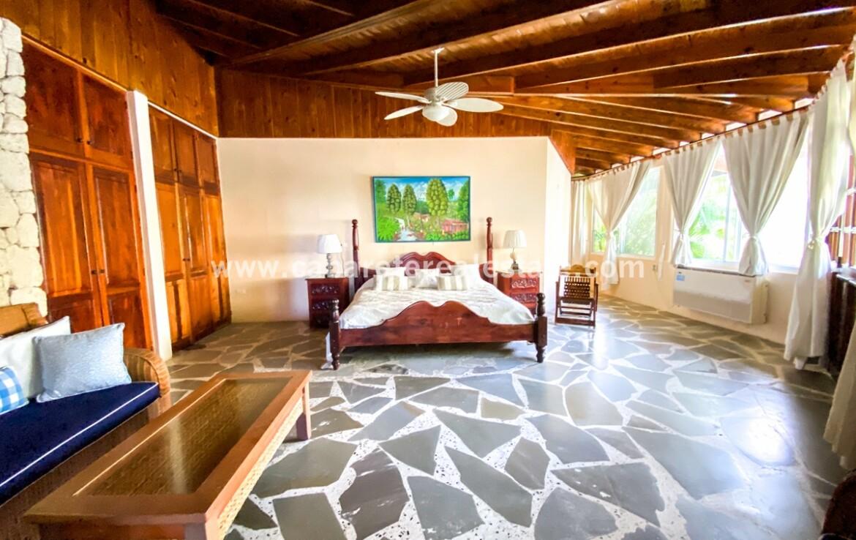 Master Bedroom in Beachfront Home Cabarete Real Estate Dominican Republic