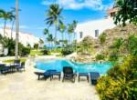Pool at beachside villa Cabarete Bay Dominican Republic Real Estate