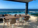 Rooftop dinning table with amazing ocean view in sosua