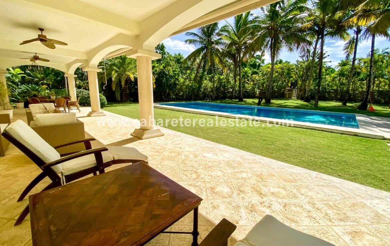Veranda terrace pool Cabarete Dominican Republic five star outdoor luxurious villa