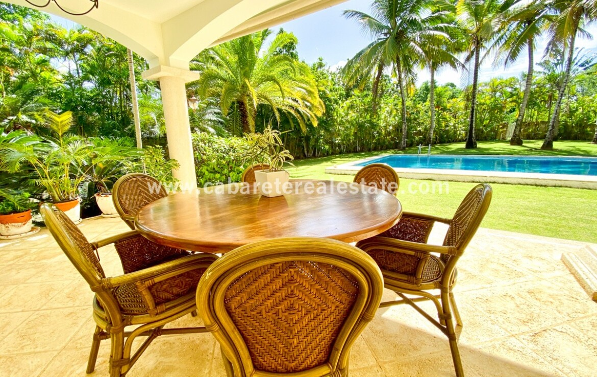 dining outdoor outdoors living seating furniture pools patio terrace veranda covered pool yard lawn cabarete dominican republic