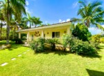 guest house separate family guests landscaping palm grass cabarete real estate dominican republic ocean beach