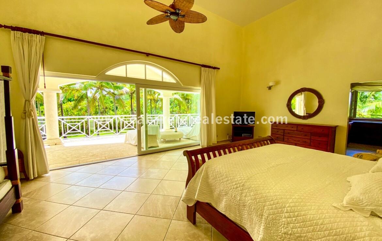 master bedroom ensuite bathroom closet walk in doors fan furnished furniture cabarete dominican republic real estate