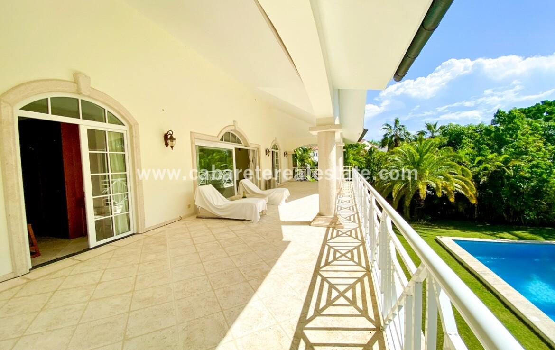 oceanview balcony terrace veranda outdoor living tile windows french cabarete dominican republic furnished