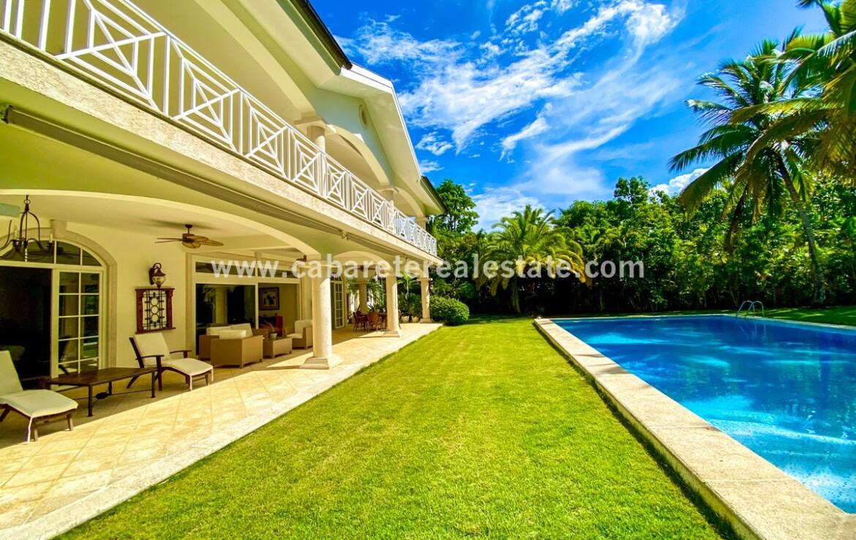 outdoor veranda balcony pool lawn landscaping landscaped patio ocean encuentro cabarete dominican republic family
