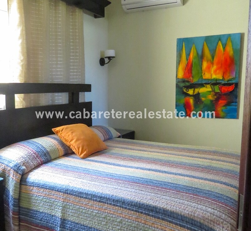 bedroom master ceiling fan airconditioning cabarete dominican republic oceanfront queen king spacious 1