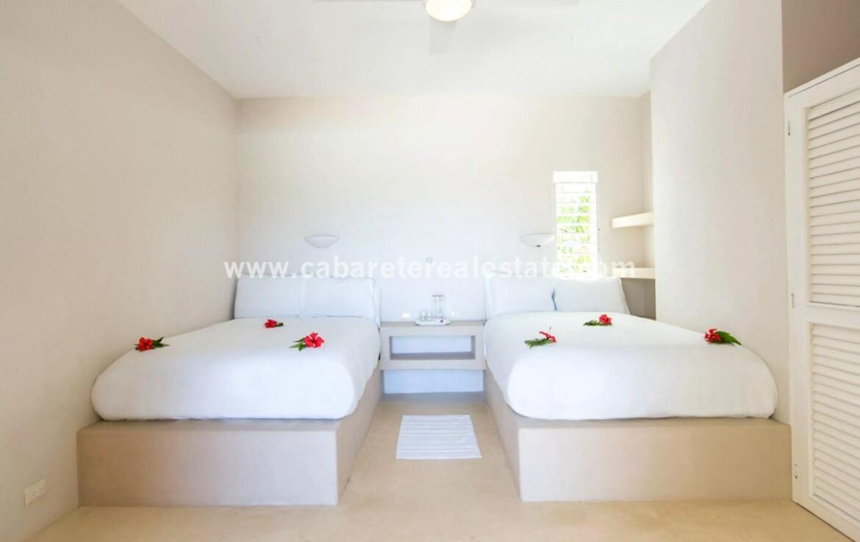 double bedroom full bed closet bathroom cabrera dominican republic 1
